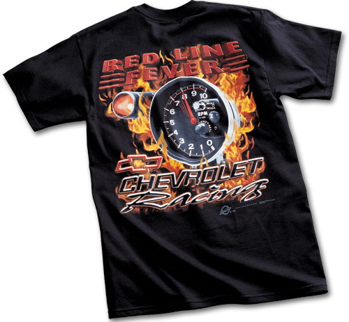 Black Chevrolet Racing Red Line Fever T Shirt From Chevymall In Size Xl